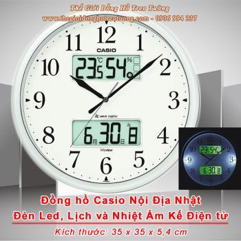 Đồng hồ CASIO Nội địa Nhật có màn hình Lịch, Nhiệt độ, Độ ẩm và Đèn Led ban đêm - Mã số: CSO 880