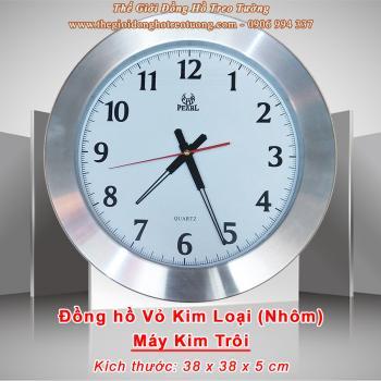 Đồng hồ Vỏ Kim Loại (Nhôm) –– Máy Kim Trôi Pearl - Mã số: 049A