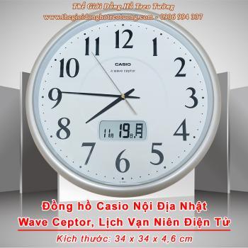 Đồng hồ Treo tường CASIO Nội địa Nhật Có Lịch điện tử