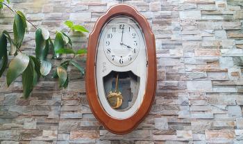 Đồng hồ Seiko Vỏ gỗ, Quả Lắc Đồng thau, Nhạc báo giờ - Mã số: SK AM201B