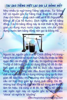 """Nguồn gốc từ """"Đồng hồ"""" trong tiếng Việt."""